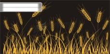 小麦剪影矢量素材