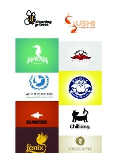 动物为主体的logo图片