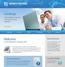 欧美风格商务网页模板图片