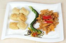 茶树菇百花豆腐图片