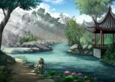 风景原画图片