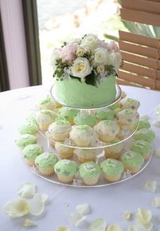 婚礼 蛋糕 玛芬 西饼 麦芬 结婚蛋糕 浅绿图片