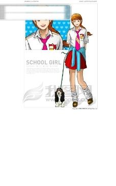 穿着校服的女孩 女生