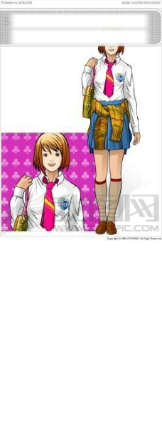 穿着校服的女孩