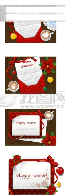 圣诞节贺卡桌面矢量素材