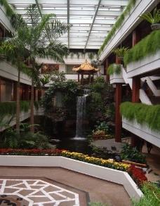 广州 羊城 花城 白天鹅宾馆 故乡水 瀑布 水景 园林 5星级 五星级 酒店 著名 老牌 宾馆 景观图片
