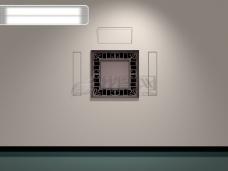 3d墙壁窗口设计
